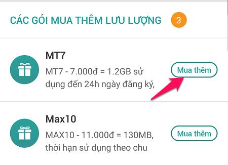 Đã có cách đăng ký lại gói data MT7 Viettel 7.000đ/1.2GB/ngày?
