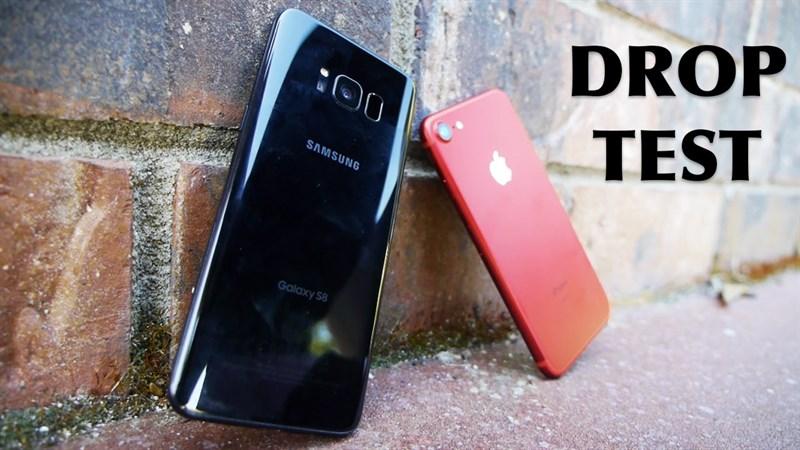 iPhone 7 hay Galaxy S8 sẽ sống sót sau thử thách thả rơi
