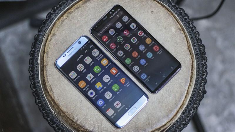 Giao diện Android trên điện thoại Samsung Galaxy S8