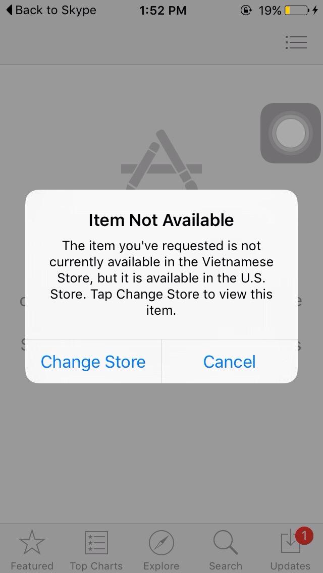 Cần chuyển tài khoản Apple ID của bạn sang khu vực Mỹ