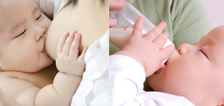 Bé 0 - 6 tháng tuổi chỉ cần bú sữa mẹ hoặc sữa công thức đã đủ dinh dưỡng, không cần nước trái cây
