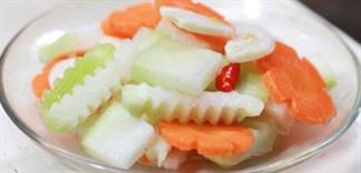 Cách muối su hào, cà rốt giòn ngon tại nhà