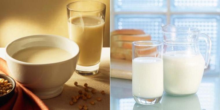 Bé uống sữa đậu nành nhận được nguồn dinh dưỡng tương đương với sữa bò