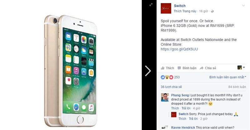 iPhone 6 32GB được giảm giá mạnh tại quốc gia gần với Việt Nam