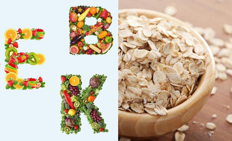 Cháo yến mạch là nguồn cung cấp vitamin dồi dào cho các bé yêu