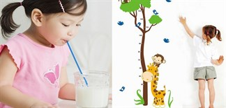 Bé uống nhiều sữa sẽ tăng chiều cao tốt?