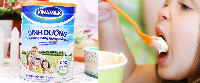 Bé uống sữa bột nguyên kem có tốt không?