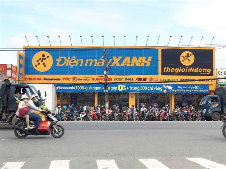 Siêu thị điện máy xanh tại 787 Quốc Lộ 1A, P.Thạnh Xuân, Q.12, TP.HCM (ngay ngã 3 QL 1A-Tô Ngọc Vân)