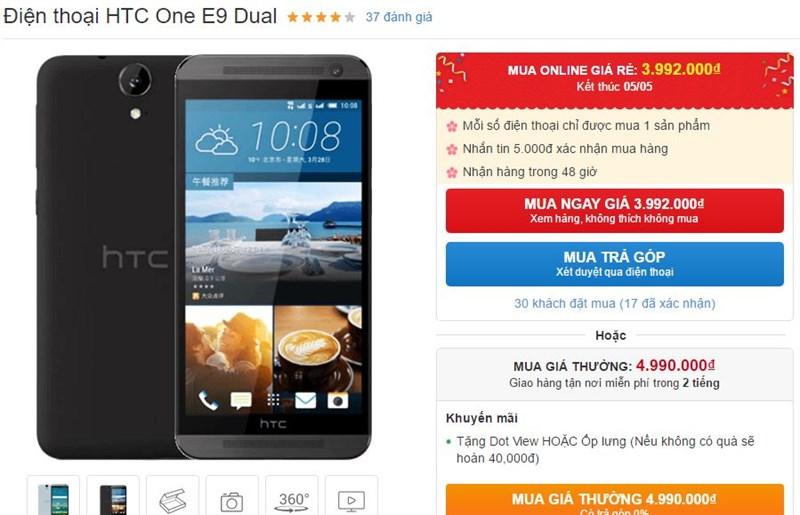 One E9 Dual màn hình 5.5 inch Full HD, chip Helio X10 hạ giá mạnh mẽ