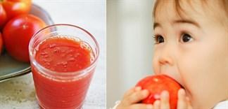 Cho bé uống nước ép cà chua - Những điều mẹ cần biết