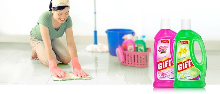 Làm sạch mọi chất liệu sàn nhà