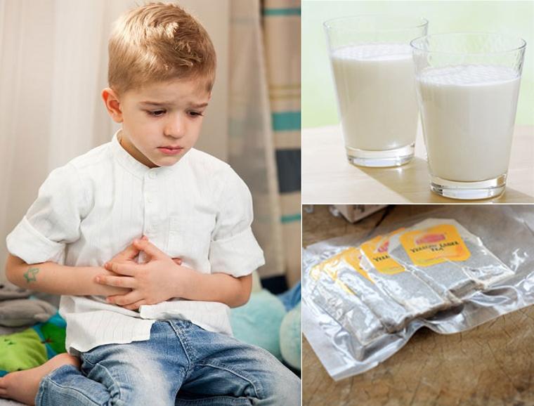 Có nên cho bé uống trà pha với sữa?