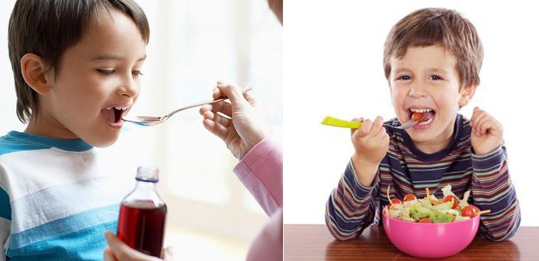 Thuốc tăng cân giúp bé ăn ngon, ăn nhiều, tiêu hóa và hấp thu tốt