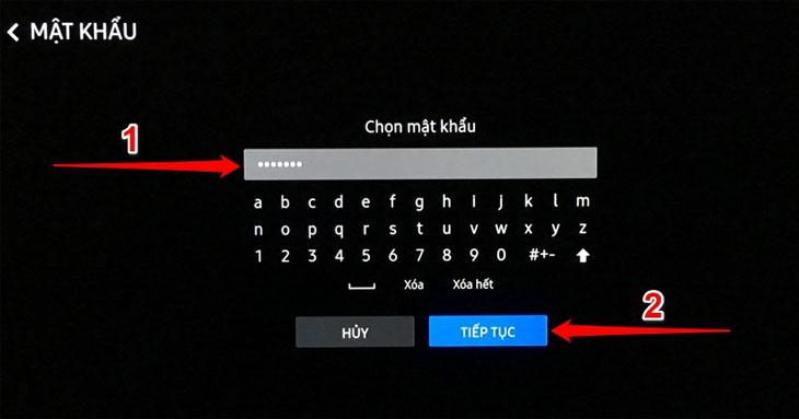 Chọn mật khẩu