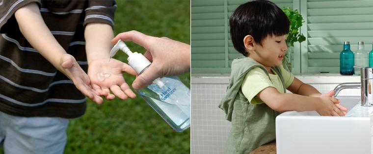 Nước rửa tay khô không diệt khuẩn hiệu quả bằng nước và xà phòng