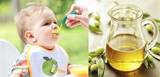 Những điều cần biết khi sử dụng dầu ô liu cho bé