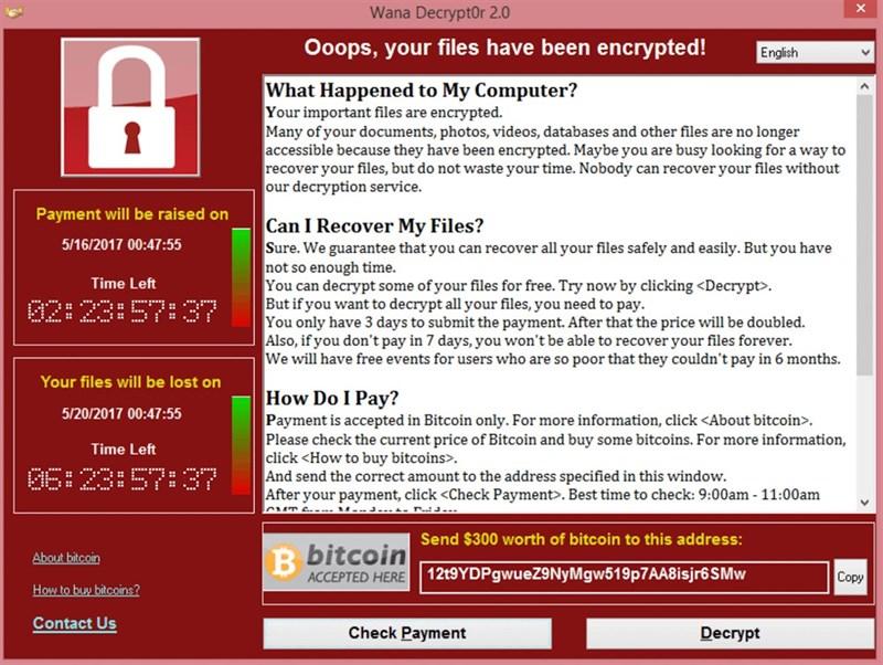 Cách gỡ bỏ và khắc phục Ransomware Wannacry