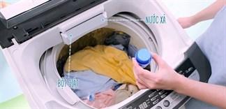 Cách cho bột giặt vào máy giặt