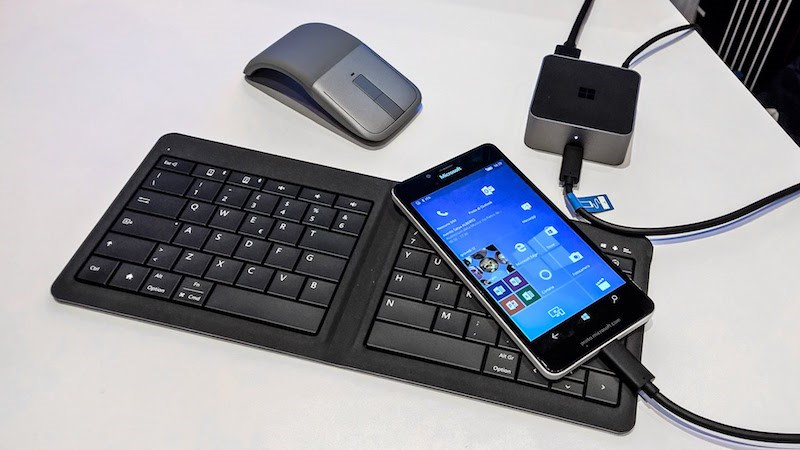 Lumia 950 có thể sử dụng Dex Dock của Samsung S8 chạy Windows 10 Mobile Continuum
