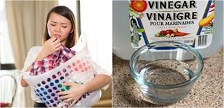 Mẹo giặt quần áo hiệu quả với giấm ăn