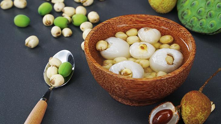 Cách nấu chè vải hạt sen, ăn là phải khen