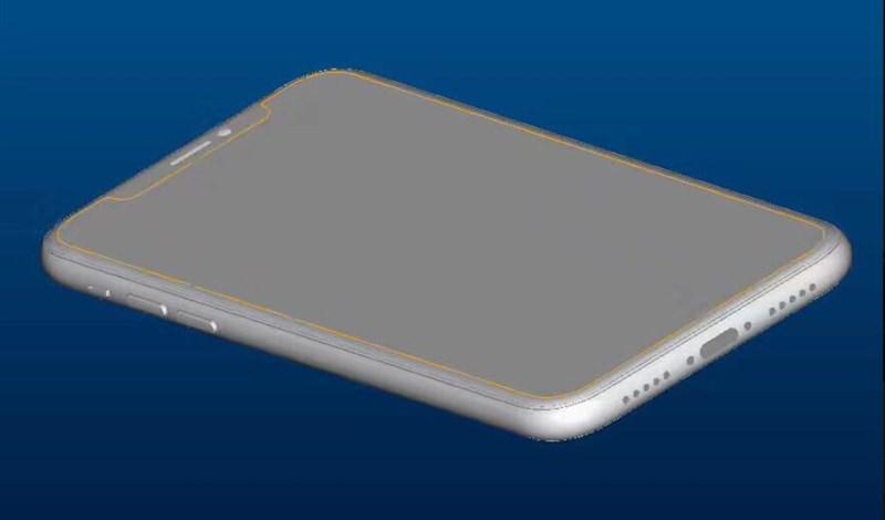 iPhone 8 tiếp tục lộ diện với màn hình tràn cạnh, camera kép cả mặt trước và mặt sau