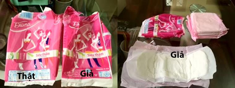 Cách nhận biết băng vệ sinh Diana giả