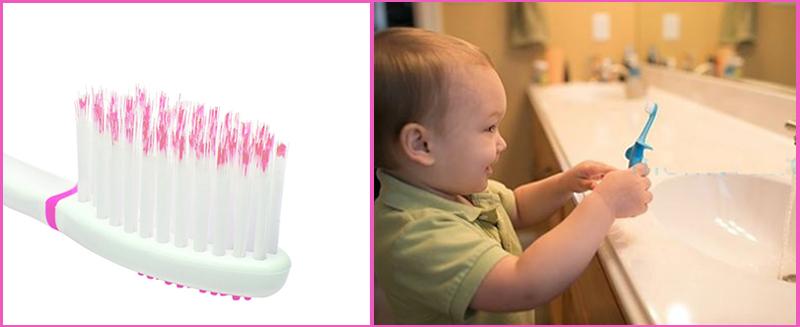Bàn chải đánh răng siêu mềm sẽ không làm tổn thương răng miệng bé khi vệ sinh