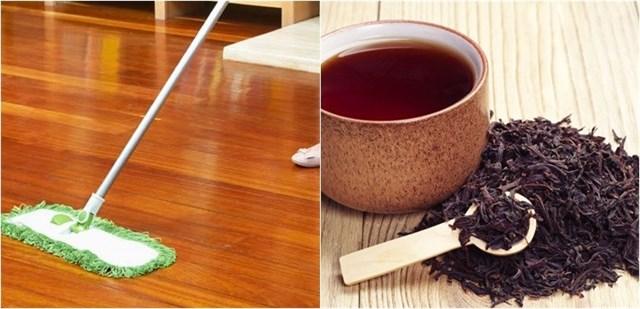 Cách vệ sinh nhà cửa đơn giản với trà