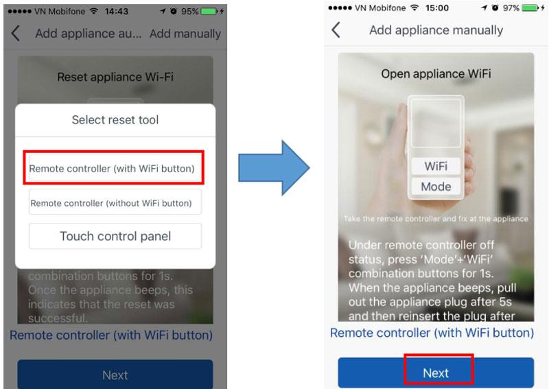 Cách kết nối điện thoại với điều hòa Gree Wifi
