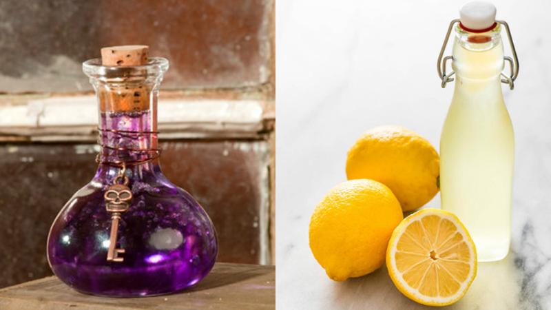 Kết hợp thuốc tím và chanh có khả năng làm ô xy hóa vết màu, làm sạch quần áo hiệu quả.