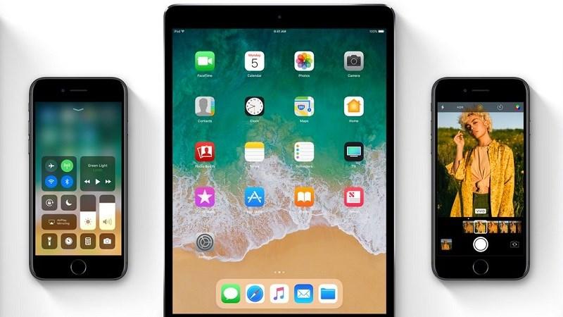 Đây là danh sách thiết bị của Apple được lên đời iOS 11