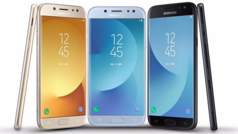 Bộ 3 Galaxy J 2017 ra mắt: Khung vỏ kim loại, chạy Android 7.0, camera trước 13MP