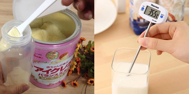 Nhiệt độ thích hợp để pha sữa cho trẻ là từ 30 đến 45 độ C