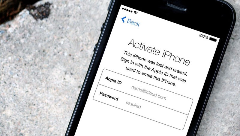 iphone bị khóa icloud và đã được xóa
