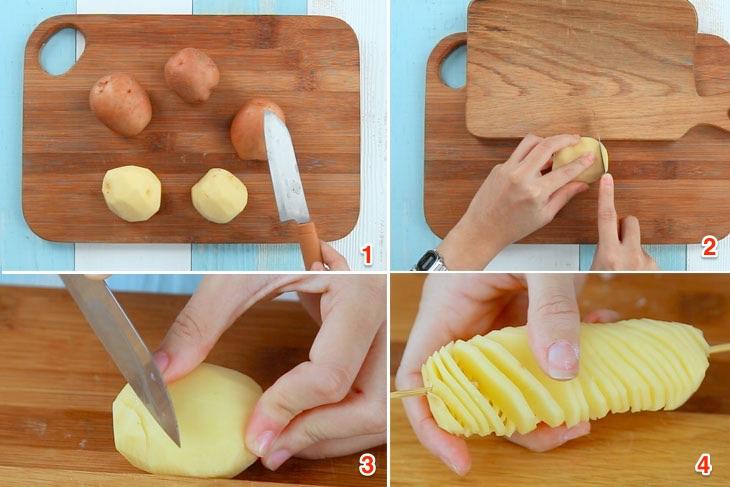 Cách làm khoai tây lốc xoáy ăn ngon bá cháy