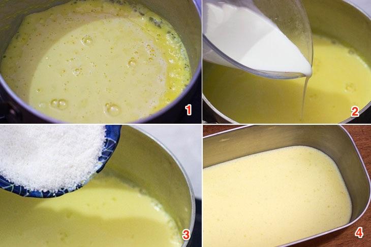 Cách làm thạch sữa bắp lá dứa quen mà lạ