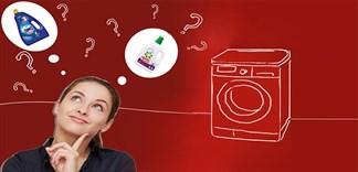 Các loại nước giặt cho máy giặt cửa ngang nào tốt nhất?