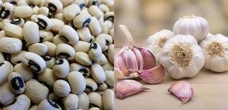 Bài thuốc quý điều trị cao huyết áp từ tỏi và đậu trắng