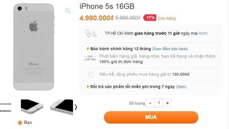 Loạt smartphone hàng hiệu đang được giảm giá cực hấp dẫn tại VuiVui.com (HCM)