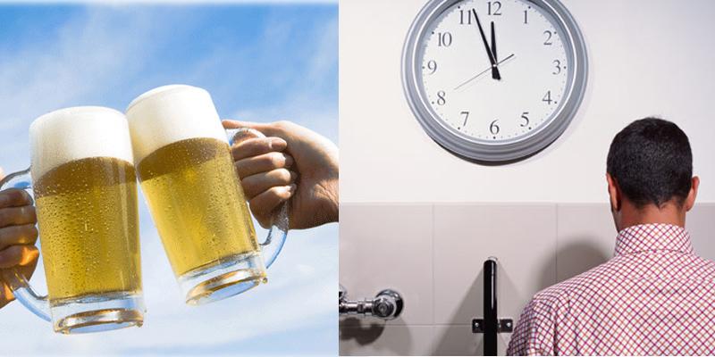 Bia có chất lợi tiểu khiến người uống bia thường xuyên buồn tiểu và đi tiểu nhiều