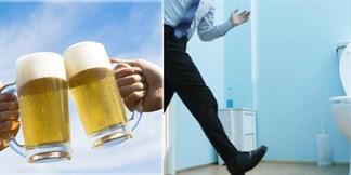 Uống bia đi tiểu nhiều lần thì tốt hay xấu?