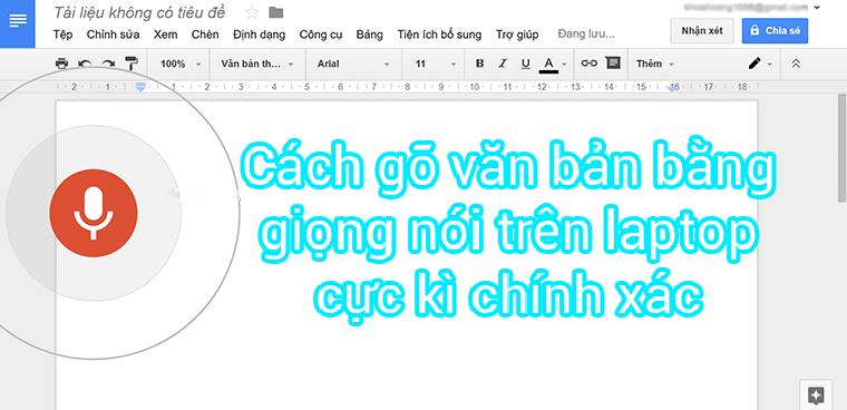 Nhập văn bản tiếng việt bằng laptop