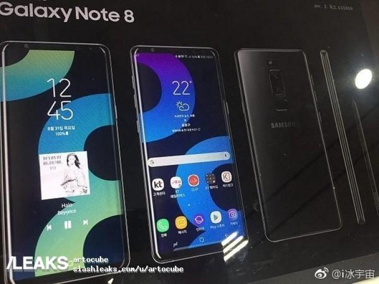 Galaxy Note 8 xuất hiện trên poster