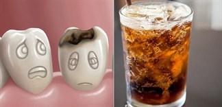 Trẻ uống nhiều nước ngọt gây phá hủy nghiêm trọng men răng!