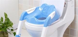 Tẩy rửa, diệt khuẩn nắp bồn cầu cho bé