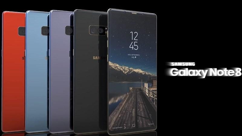 Concept: Galaxy Note 8 thiết kế chất như nước cất cùng nhiều màu sắc thời thượng
