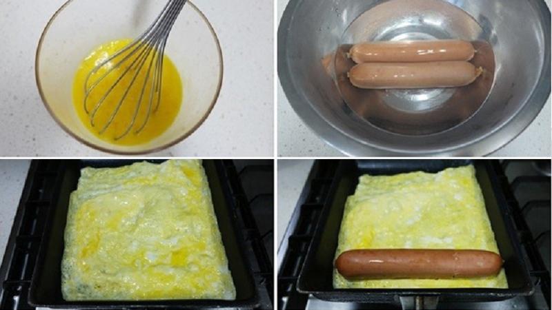 Cách làm món trứng cuộn xúc xích thơm, ngon lại đẹp mắt