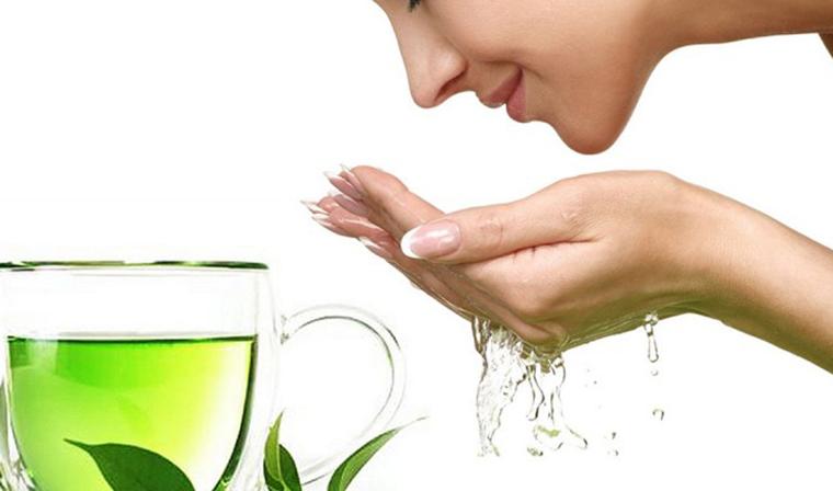 """Điều """"thần kỳ"""" khi rửa mặt bằng trà xanh"""