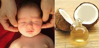 Chăm sóc cơ thể bé bằng dầu dừa nguyên chất